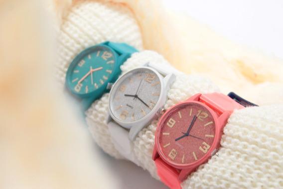 Relógio Quartz Bisel Redondo Feminino