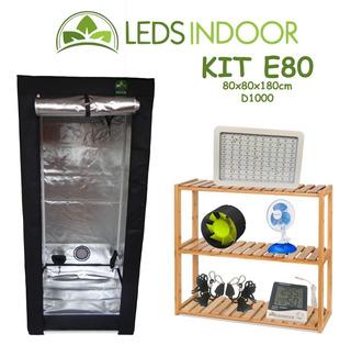 Kit De Cultivo Leds Indoor E80 - 80x80x180cm - D1000
