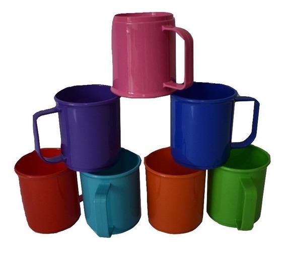 30tazas/jarros Plasticas Irrompibles De Colores Nuevo Modelo