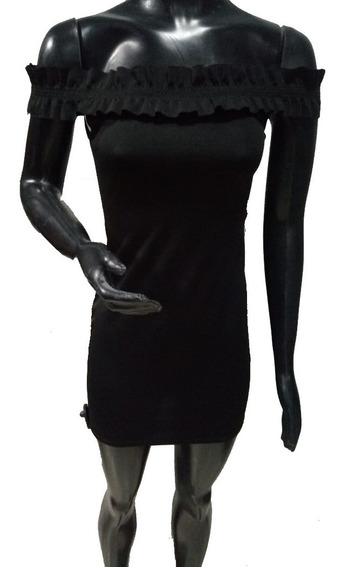 Vestido Tipo Paisana Volados En Los Hombros | Bellus (59330)