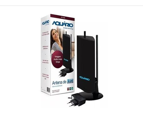 Antena Interna Amplificada Para Tv 4 Em 1 Dtv-4600 Aquario