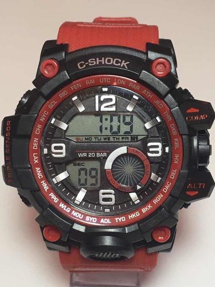 Relógio Masculino Vermelho Sport Super Moderno Promoção