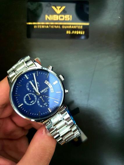 Relógio Nibosi Prateado