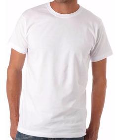 8 Camisetas Brancas 100% Algodão Fio 30 Penteado