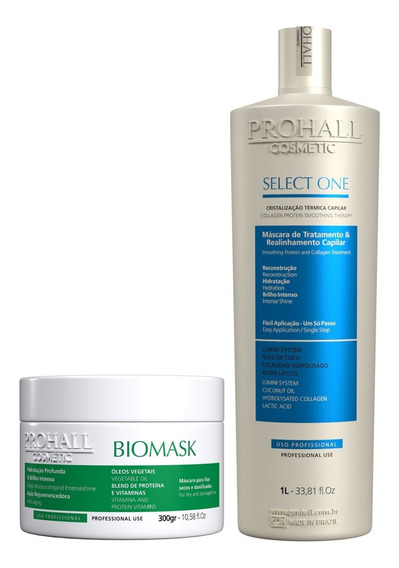 Escova Progressiva Select One 1l E Biomask Mascara Prohall