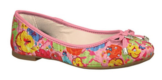 Zapatillas Casuales Flores Niñas Bibi