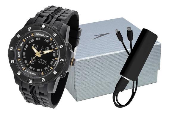 Relógio Masc Speedo 81127g0evnp6k1 + Carregador Portátil Nfe