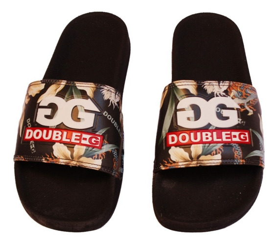 Chinelo Slide Qix Double G Floral 100% Original Com N F