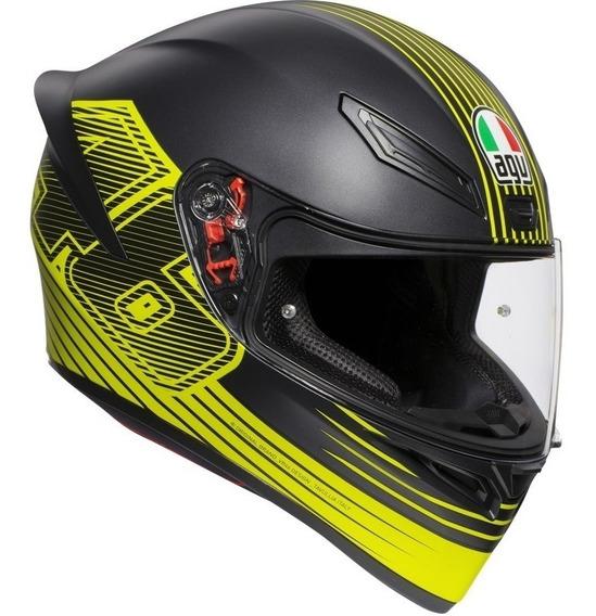 Capacete Agv K1 Edge 46 Valentino Rossi - Produto Original