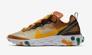 Tênis Nike React Element 87 - Pale Ivory / Orange Peel