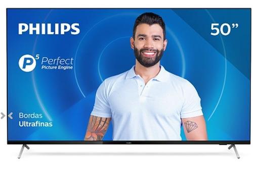 Imagem 1 de 6 de Smart Tv Philips 50pug762578 4k Uhd P5 Hdr10 Bluetooth Wi-fi