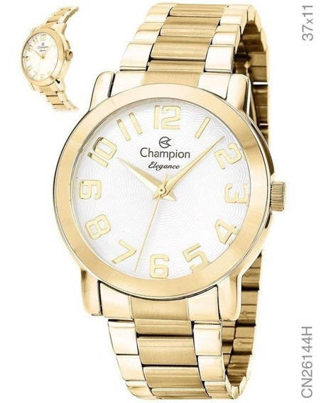 Relógio Champion Feminino Elegance Analógico Dourado
