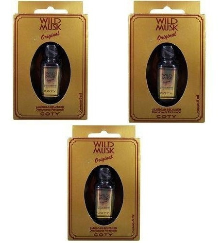 Kit C/3 Almiscar Selvagem Wild Musk Óleo Perfumado 5ml