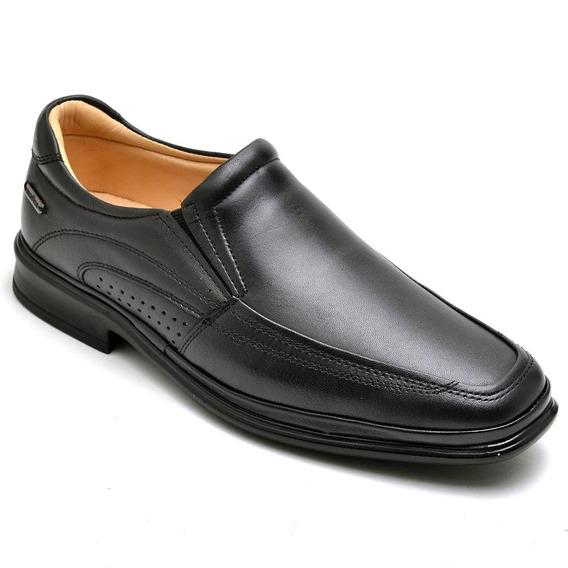 Sapato Social Masculino Couro Legitimo Conforto Anti Stress
