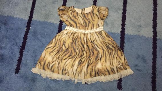 93 Vestido Rociclê, Estampado, Em Crepe