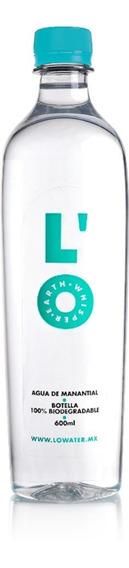 Agua Natural 600 Mls Envase 100% Biodegradable L