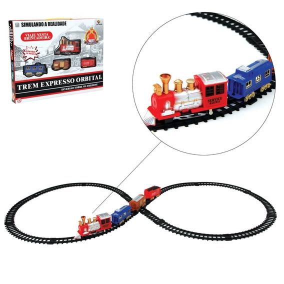 Ferrorama Trem Eletrico Maquina Locomotiva Com Trilhos Vagoe