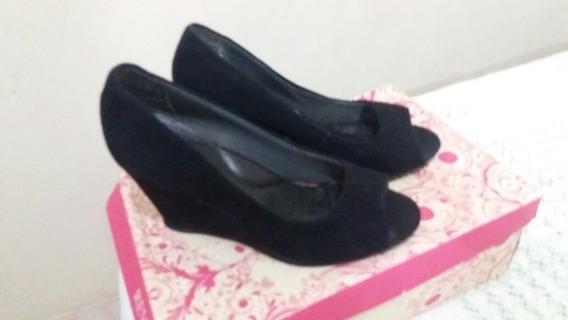 Sapato Alto Camurça