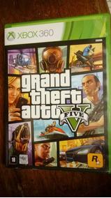Jogo Gta 5 Grand Theft Auto Five Xbox 360 Completo Com Mapa!