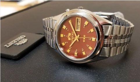 Relógio Pulseira De Aço Automático Orient Prata 3 Star