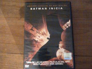 Pelìcula Batman Inicia Dos Cds Pelìcula Y Escenas Especiales