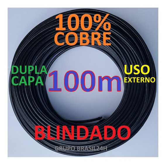 Cabo Rede Cat5e 100m Cobre Ftp Externo Dc Blindado Connect