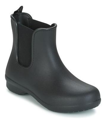 Bota De Lluvia Crocs Fresail Chelsea - Black