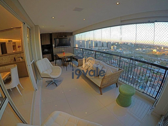 Apartamento Aquarius Resort Residence, Jardim Aquarius, Permuta, 3 Suítes, 3 Vagas, Sjcampos-sp. - Ap1002