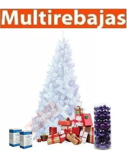 Arbol De Navidad Blanco Pino Frondoso 1.80m