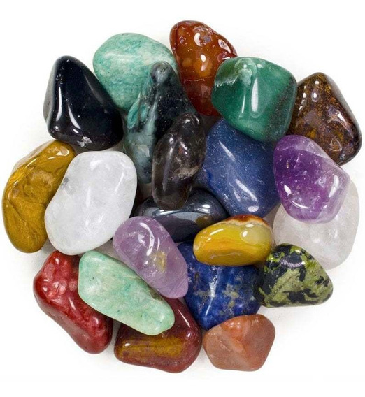 Pedras Roladas Mistas Naturais (4,5 A 6 Cm) Extra Grande-1kg