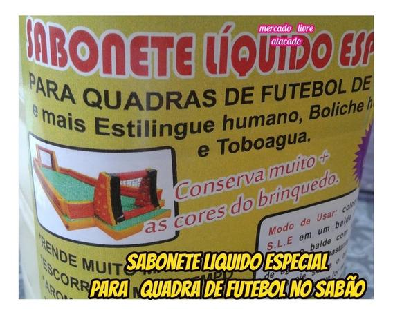 Futebol No Sabão 2lts De Sabonete Liquido Especial +brinde