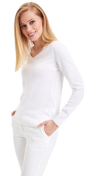 Suéter Defacto F7088az_er99 Con Escote En V Para Mujer