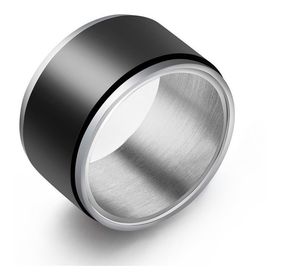 Anel Masculino Giratório De Aço Inoxidável 316+titanium-12mm
