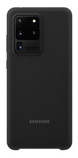 Capa Protetora Silicone Preto Samsung Galaxy S20 Ultra