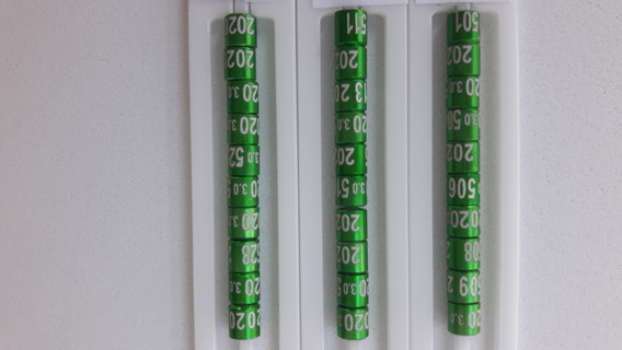 Anilhas De Marcação Para Canário Belga 3,0mm Pacote 10 Units