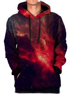 Blusa Moletom Bolso Lateral Galaxia Nebulosa Tumblr Swag 7