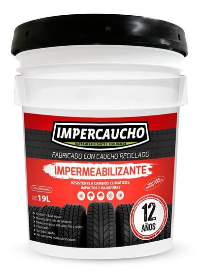 Impercaucho Impermeabilizante 12 Años 19 Litros Aplicacion Techo Cubeta Color Blanco