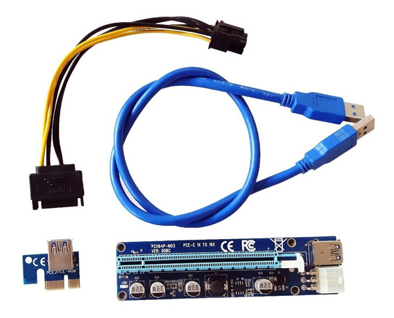 Pci-express 1x A 16x Riser Card Usb 3.0