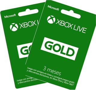 Membresia De 3 Meses Xbox Live Gold En Codigo