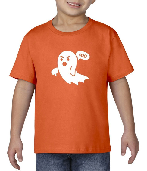 Camiseta Playera Bebe Niño Halloween Fantasma Boo Miedo