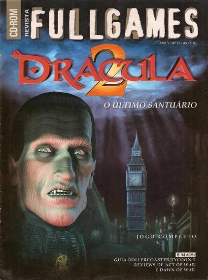 Revista Fullgames Nr 51 Pc Dvd-rom Dracula 2 Novo