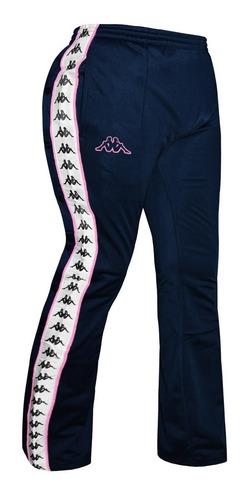 Pantalon Kappa Banda Wastoria Snaps Moda Con Botones Navy