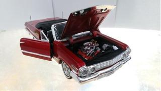 Chevroleth Impala 1963 Escala 1/24 Caja Individual Metalico