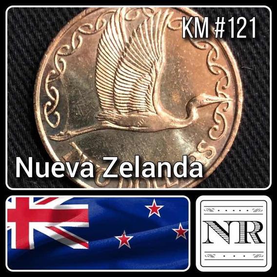 Nueva Zelanda - 2 Dolares - Año 2003 - Km #121 - Oceanía - Pajaro - Garza Blanca