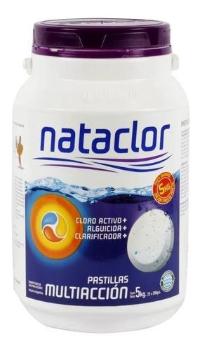 Imagen 1 de 7 de Pastillas Cloro Multiacción 200gr De 5kg Nataclor Rinde + Mm