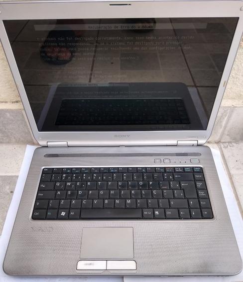 Carcaça De Notebook Sony Vaio Pcg 7133p - Funciona Leia Mais