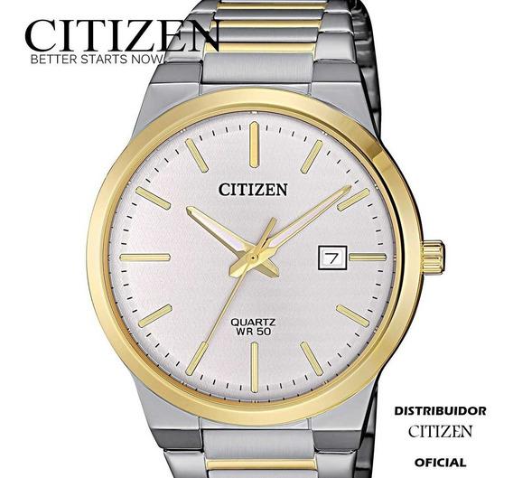 Reloj Hombre Citizen Bi5064-50a Acero Cuarzo Bisel Dorado