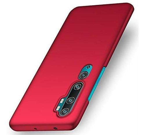 Imagen 1 de 7 de Funda Xiaomi Mi Note 10/mi Cc9 Pro/mi 10 Pro-(rojo Liso)
