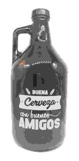 Growler, Botellon Para Cerveza Con Buenos Amigos