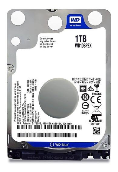 Hdd Wd 1tb Blue Sata Iii 2.5 , Wd10spzx - Notebook